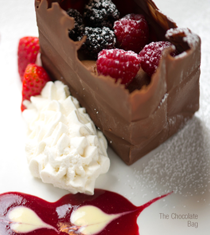 Chocolate Purse | Virtue's Restaurant in Summa Akron City Hospital