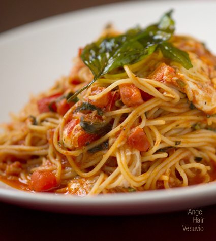 Angel Hair Vesuvio | Virtue's Restaurant in Summa Akron City Hospital